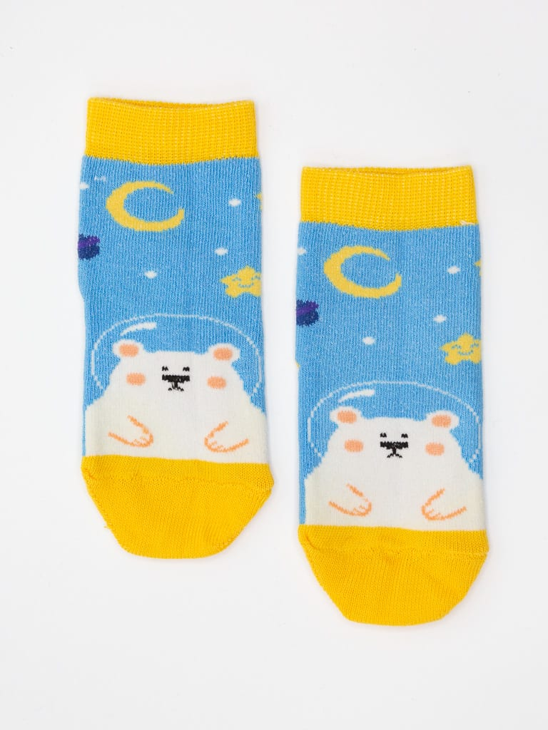 Multi color New Born Crew Socks 48A