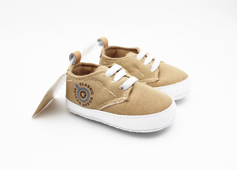 Camel brown and White Baby Shoes - 3