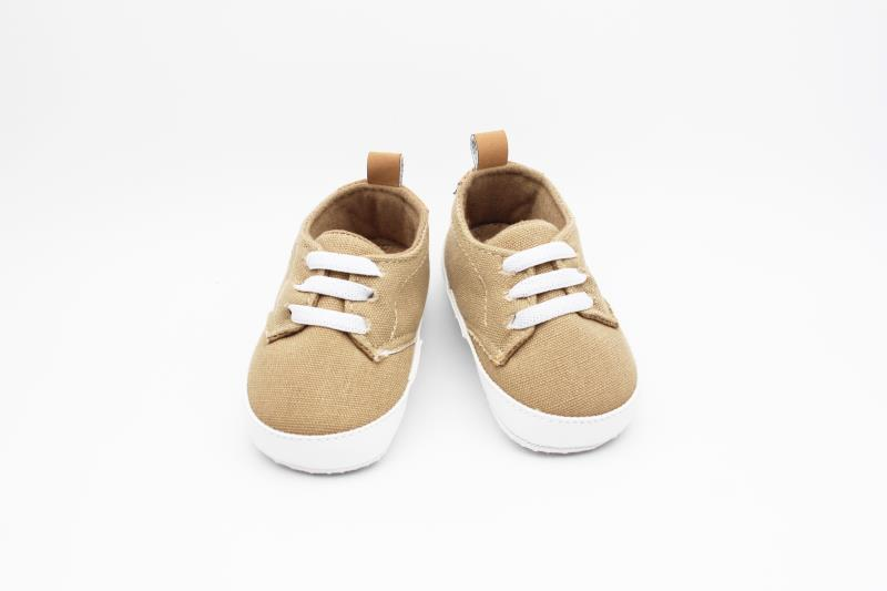 Camel brown and White Baby Shoes - 2