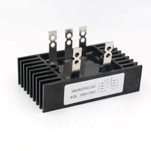 Load image into Gallery viewer, Heatsink Shape Bridge Rectifier SQL 100A 1200V 3 Phase Diode Metal Case 5 Pin
