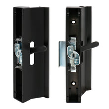 "Lade das Bild in den Galerie-Viewer, Patio Sliding Door Handle Set C-1006 Hole Center 4-15/16 inch, Latch Hook 1/2"", Flush Extruded Aluminum, Black"