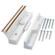Load image into Gallery viewer, Patio Door Handle Set C-1111 Extruded Aluminum 7-3/8 inch X 1-1/2 inch Removable Knock-Out Slug White