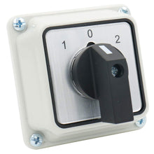 Load image into Gallery viewer, Universal Rotary Changeover Switch SZW26-20/D202.2D with Master Switch Exterior Box 660V 20A 3 Position 2 Phase