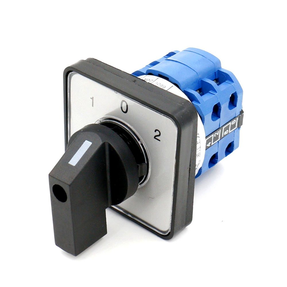 Rotary Universal Changeover Switch SZW26-20/D202.2 660V 20A 1-0-2 3 Positions 8 terminals 2 Phase Latching Function