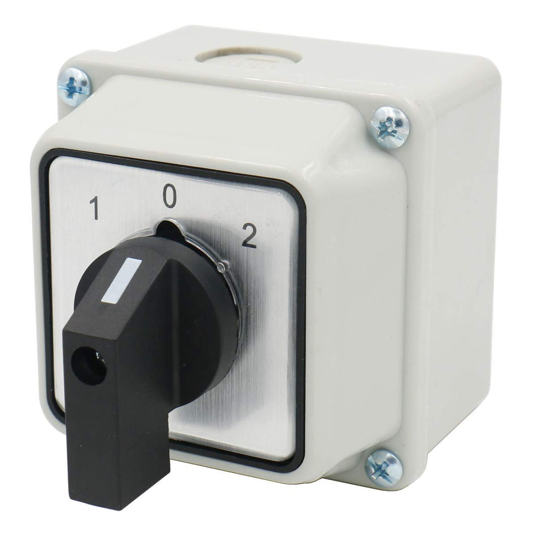 Universal Rotary Changeover Switch SZW26-20/D202.2D with Master Switch Exterior Box 660V 20A 3 Position 2 Phase