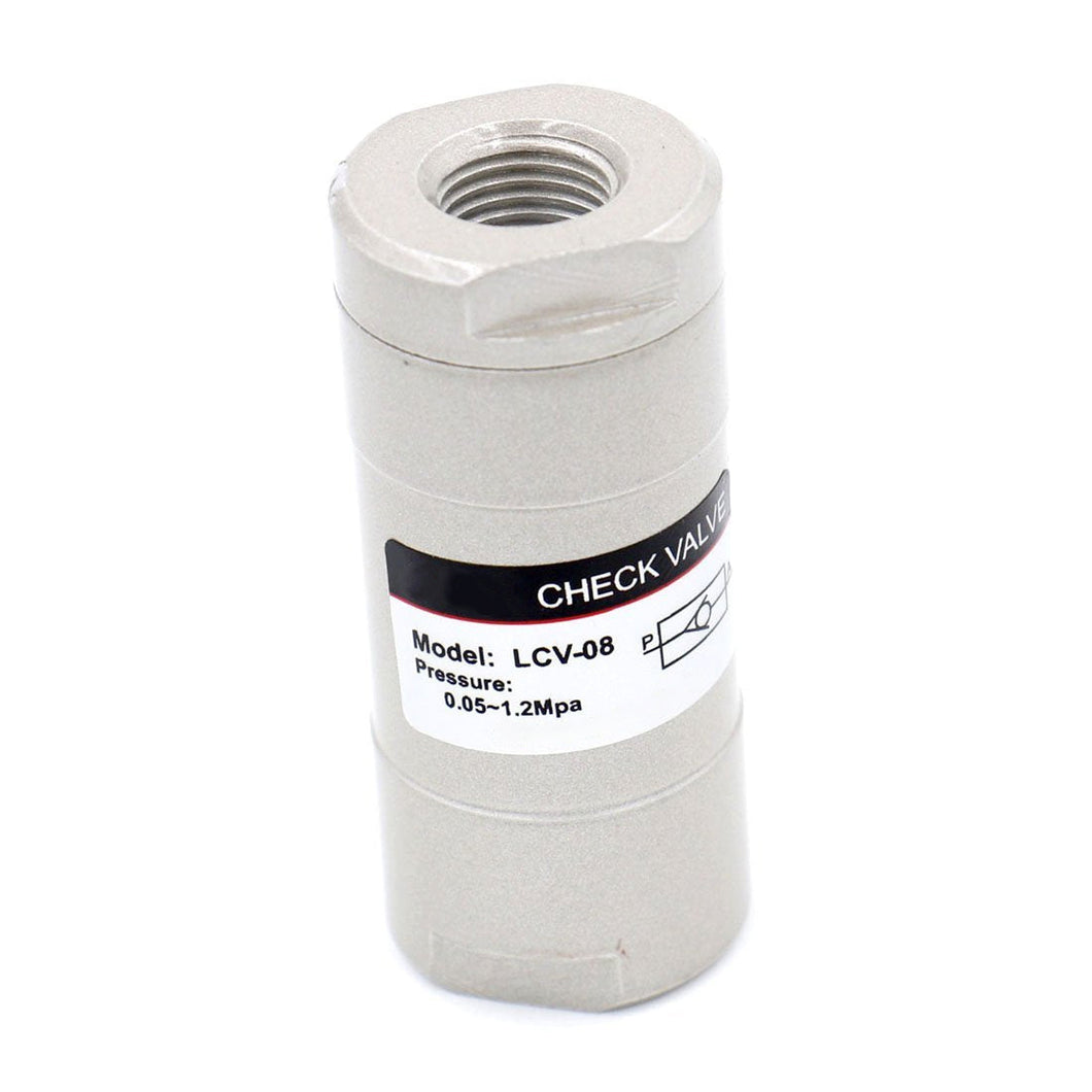 Pneumatic Air Check Valve LCV-08 1/4 inch Port One Way