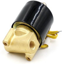 Load image into Gallery viewer, Brass Electric Solenoid Valve 1/8 Inch Valve Normally Closed Working for Water