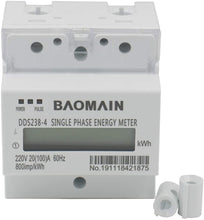 Load image into Gallery viewer, Single Phase Emergy Meter Kilowatt DDS238-4 220V 20(100)A 60Hz 800imp/kWh 35mm DIN-Rail