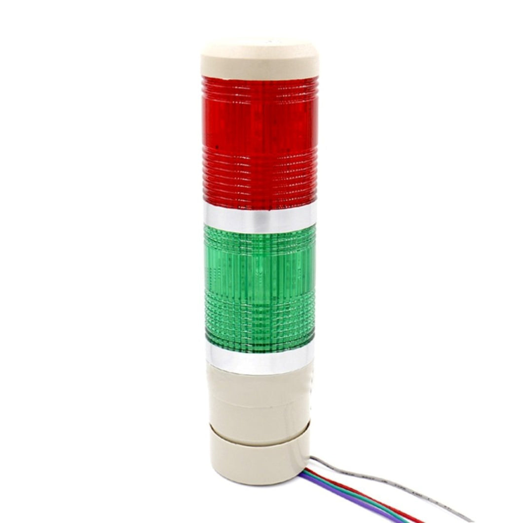 Industrial Signal Light Column LED Alarm Round Tower Light Indicator Continuous Light Warning Light Red Green