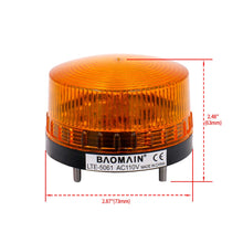 Load image into Gallery viewer, Industrial Signal Round Yellow Warning Light Strobe Warning lamp LTE-5061