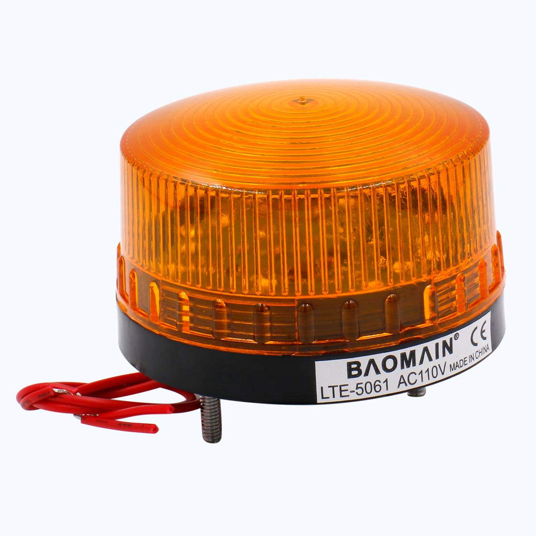 Industrial Signal Round Yellow Warning Light Strobe Warning lamp LTE-5061