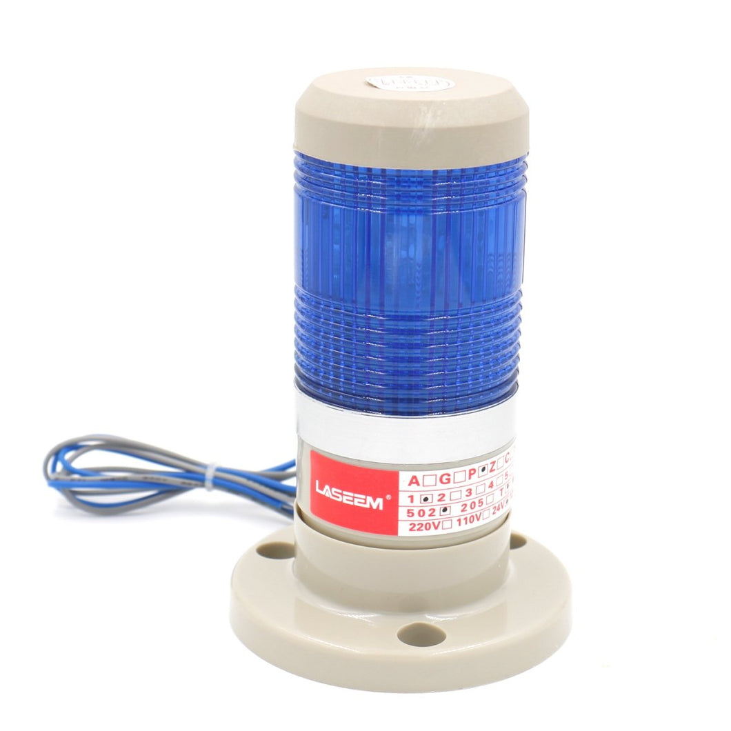 Warning Continuous Light Industrial Blue LED Signal Tower Lamp