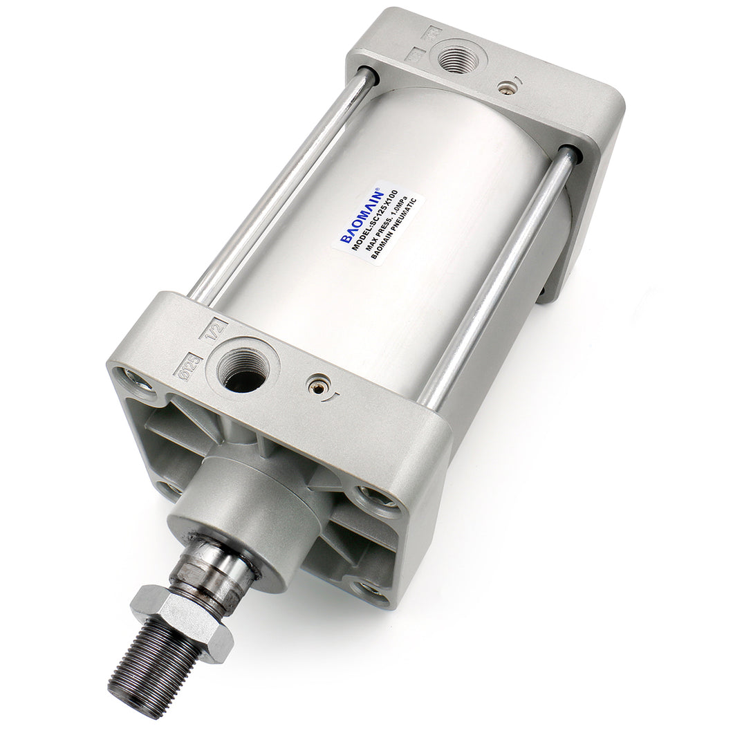Pneumatic Air Cylinder SC 125 PT1/2; Bore:125mm (5 inch) Screwed Piston Rod Dual Action