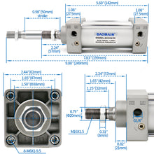 Load image into Gallery viewer, Pneumatic Air Cylinder SC 50 PT 1/4, Bore: 50mm (2 inch) Screwed Piston Rod Dual Action 1 Mpa