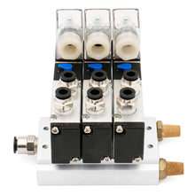 "Load image into Gallery viewer, 3 Space Pneumatic 1/4""PT Solenoid Valve 4V210-08 12V/24V/110V/220V Single Coil Pilot-Operated Electric 2 Position 5 Way Connection Type with Base Muffler"