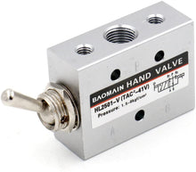 Load image into Gallery viewer, Pneumatic Toggle Knob Switch Valve HL-2501-V PT1/8 inch 5 Position 2 Way