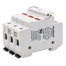 Load image into Gallery viewer, Cylindrical Fuse Holder RT18-32(X) 10*38mm Fuse Base 3 Pole 35mm DIN Rail Mount UL