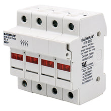 Load image into Gallery viewer, Cylindrical Fuse Holder RT18-32(X) 10*38mm Fuse Base 4 Pole 35mm DIN Rail Mount UL