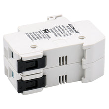 Load image into Gallery viewer, Cylindrical Fuse Holder RT18-32(X) 10*38mm 1000VDC 30A 10kA Fuse Base 2 Pole 35mm DIN Rail Mount UL