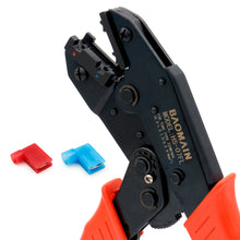 Load image into Gallery viewer, Ratchet Crimper Plier HS-07FL Flag Female Quick Disconnects Crimping Tools Use for 1.5-2.5 mm² (15-13 AWG) Red