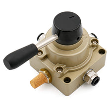 Load image into Gallery viewer, Rotary Lever Hand Valve HV-03 PT3/8 3 Position 4 Way Pneumatic Air Flow Control