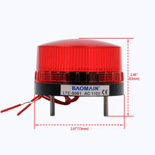 Lade das Bild in den Galerie-Viewer, Industrial Signal Round Red Warning Light Blinking Warning lamp LTE-5061