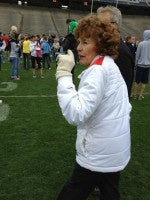 Sue at Special Olympics