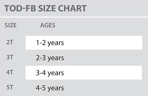 Size Chart - Colosseum - Toddler - All