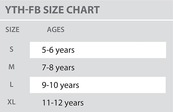 Size Chart - Colosseum - Youth - All