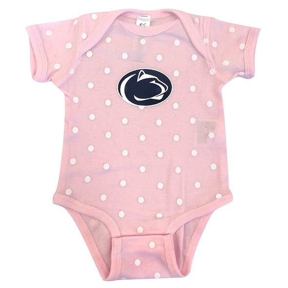 Infant Polka Dot Penn State Onesie