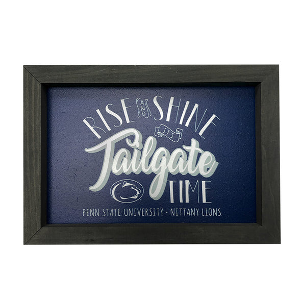 Rise and Shine it's Tailgate Time Wooden Wall Art