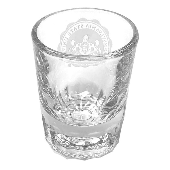 Shot Glass Etched Penn State Seal