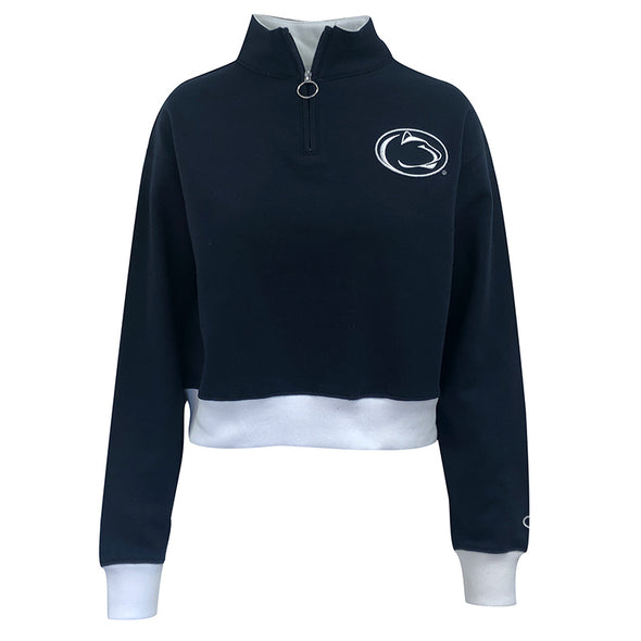 Champion Ladies 1/4 Zip Crop Sweatshirt