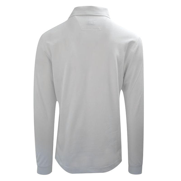 Cutter & Buck Long Sleeve Cotton Polo - White