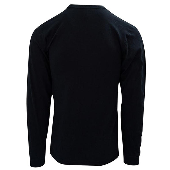 Embroidered Left Chest Long Sleeve T-Shirt - Navy