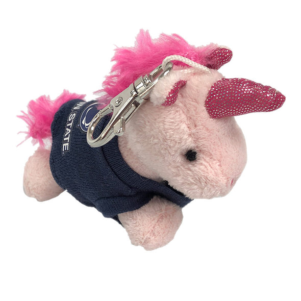 Plush Pals Pink Unicorn Key Chain