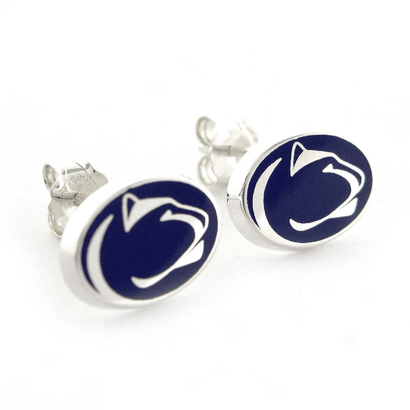 L. Moyer Designs - Blue Nittany Lion Logo Earring