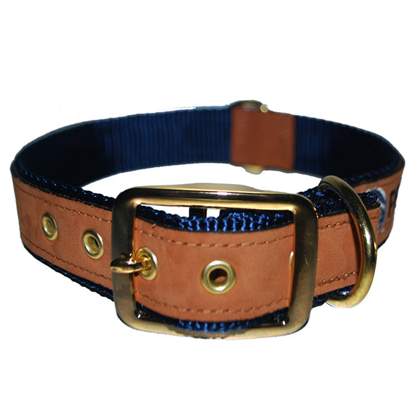Leather Embroidered Dog Collar