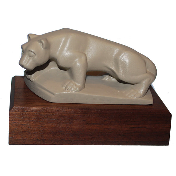 Miniature Tan Lion Shrine Statue