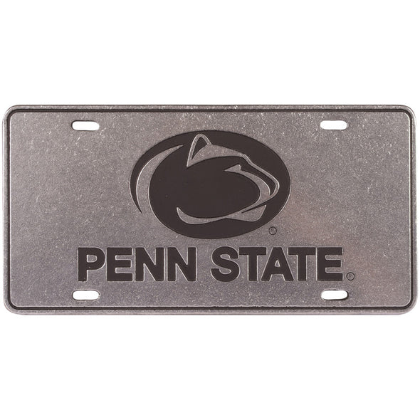 Pewter Athletic Logo License Plate
