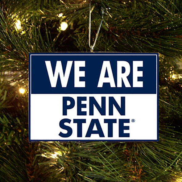 We Are Penn State Wooden Ornament