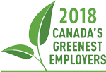 2018 Canada's Greenest Employers logo