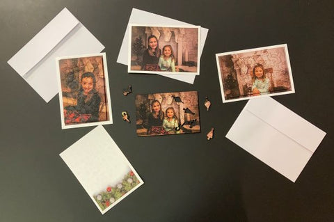 Christmas Notecard Puzzle - Custom Photo