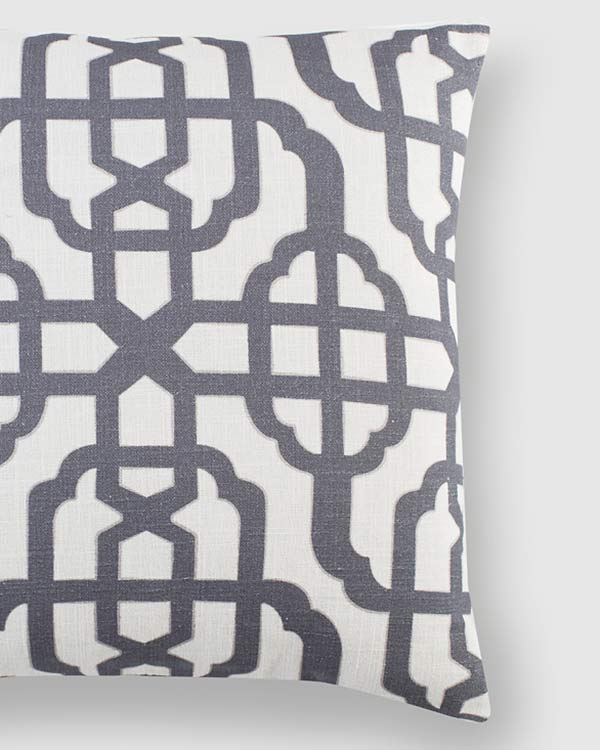 Trellis Cushion - Charcoal