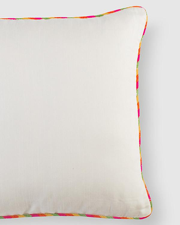 Tussar Cushion - Ivory