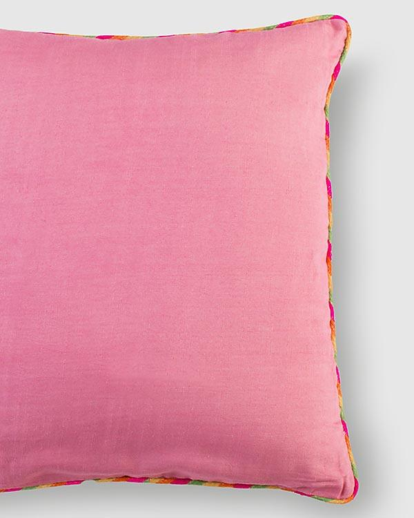 Tussar Cushion - Blush