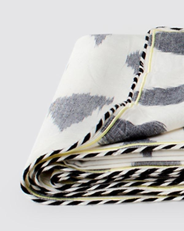 Ikat Tear drop King Bed Cover