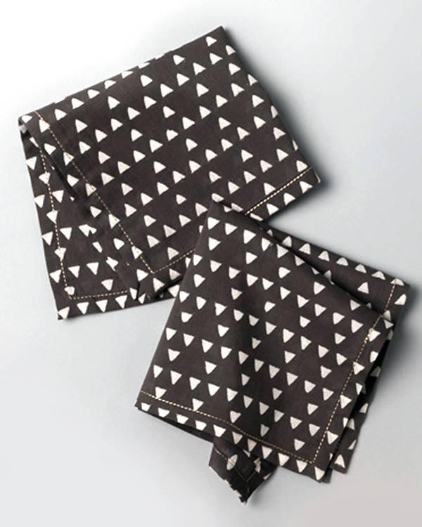 Zan Cocktail Napkins (Set of 6) - Charcoal