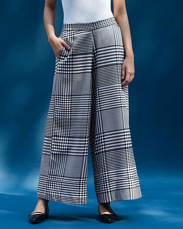 Wide Leg Culotte - White & Black