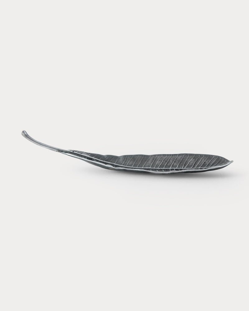Frangi Leaf Incense Holder - Antique Silver